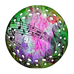 Abstract Music 2 Round Filigree Ornament (2side)