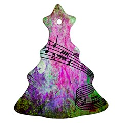 Abstract Music 2 Christmas Tree Ornament (2 Sides)