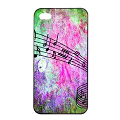 Abstract Music 2 Apple iPhone 4/4s Seamless Case (Black)