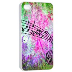 Abstract Music 2 Apple iPhone 4/4s Seamless Case (White)