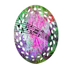 Abstract Music 2 Oval Filigree Ornament (2-Side)