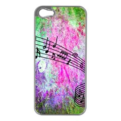 Abstract Music 2 Apple Iphone 5 Case (silver)