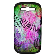 Abstract Music 2 Samsung Galaxy S Iii Hardshell Case (pc+silicone)
