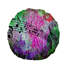 Abstract Music 2 Standard 15  Premium Round Cushions