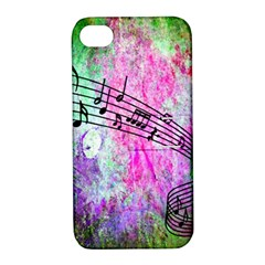 Abstract Music 2 Apple Iphone 4/4s Hardshell Case With Stand