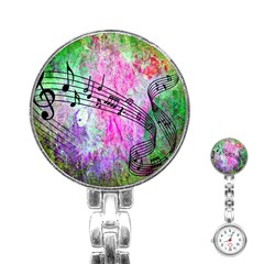 Abstract Music 2 Stainless Steel Nurses Watches