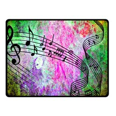 Abstract Music 2 Double Sided Fleece Blanket (Small)