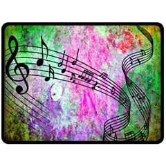 Abstract Music 2 Double Sided Fleece Blanket (large)