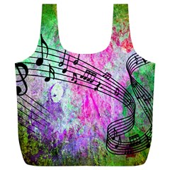 Abstract Music 2 Full Print Recycle Bags (l)
