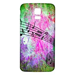 Abstract Music 2 Samsung Galaxy S5 Back Case (White)