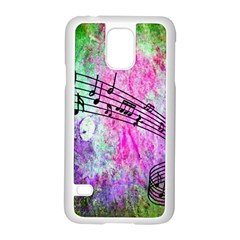 Abstract Music 2 Samsung Galaxy S5 Case (white)