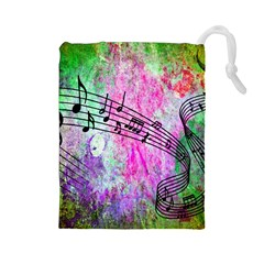 Abstract Music 2 Drawstring Pouches (Large)