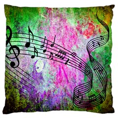 Abstract Music 2 Large Flano Cushion Cases (One Side)
