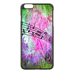 Abstract Music 2 Apple Iphone 6 Plus Black Enamel Case
