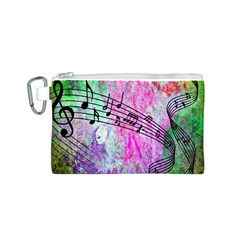 Abstract Music 2 Canvas Cosmetic Bag (S)