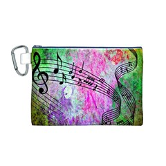 Abstract Music 2 Canvas Cosmetic Bag (M)