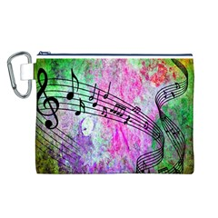 Abstract Music 2 Canvas Cosmetic Bag (L)