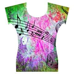 Abstract Music 2 Women s Cap Sleeve Top