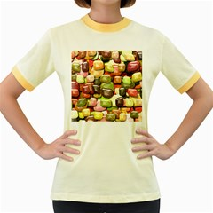 Stones 001 Women s Fitted Ringer T-Shirts