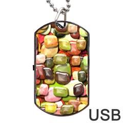 Stones 001 Dog Tag USB Flash (One Side)