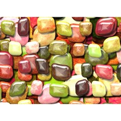 Stones 001 Birthday Cake 3d Greeting Card (7x5)