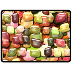 Stones 001 Double Sided Fleece Blanket (large)