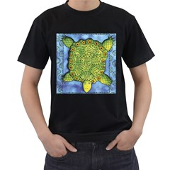 Turtle Men s T Shirt (black) (two Sided)