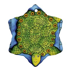 Turtle Snowflake Ornament (2-Side)
