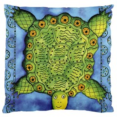 Turtle Large Flano Cushion Cases (one Side)