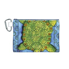 Turtle Canvas Cosmetic Bag (M)