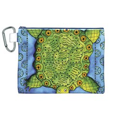 Turtle Canvas Cosmetic Bag (XL)