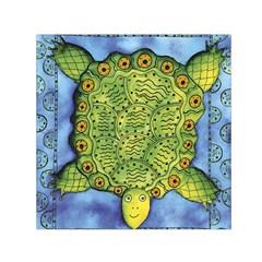 Turtle Small Satin Scarf (Square)