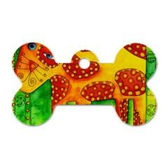Spotty Dog Dog Tag Bone (two Sides)