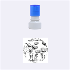Spotty Dog Rubber Round Stamps (Small)