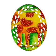 Spotty Dog Ornament (Oval Filigree)