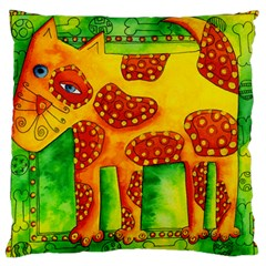 Spotty Dog Large Flano Cushion Cases (one Side)