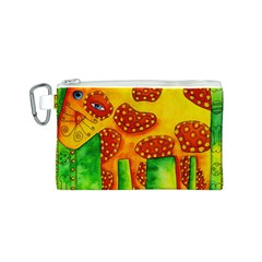 Spotty Dog Canvas Cosmetic Bag (S)