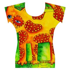 Spotty Dog Women s Cap Sleeve Top