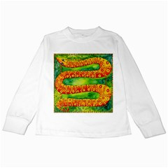 Patterned Snake Kids Long Sleeve T-Shirts