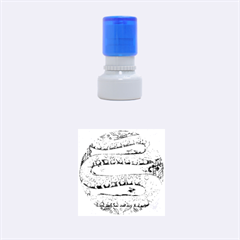 Patterned Snake Rubber Round Stamps (Small)