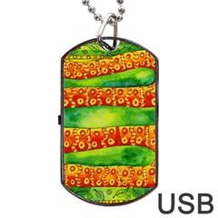 Patterned Snake Dog Tag USB Flash (One Side)