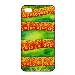 Patterned Snake Apple iPhone 4/4s Seamless Case (Black)