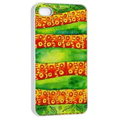 Patterned Snake Apple iPhone 4/4s Seamless Case (White)
