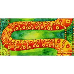 Patterned Snake You Are Invited 3d Greeting Card (8x4)
