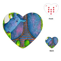 Patterned Rhino Playing Cards (Heart)
