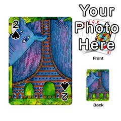 Patterned Rhino Playing Cards 54 Designs