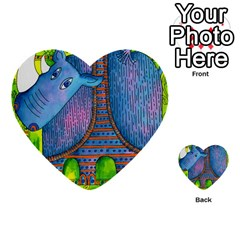 Patterned Rhino Multi-purpose Cards (Heart)