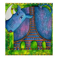Patterned Rhino Shower Curtain 66  x 72  (Large)