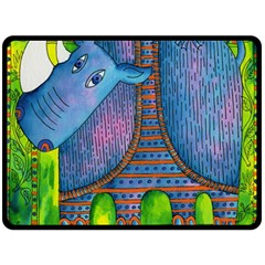 Patterned Rhino Fleece Blanket (Large)