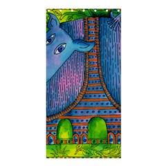 Patterned Rhino Shower Curtain 36  x 72  (Stall)